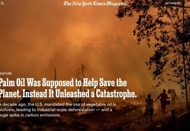 NYT Magazine cover story on Palm Oil featuring BlackRock.