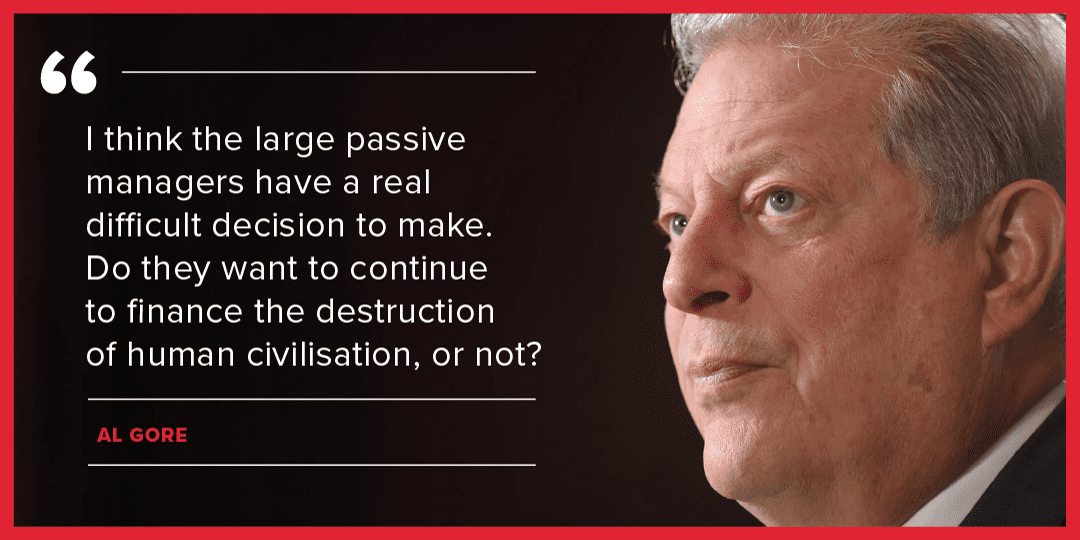 Picture of Al Gore with quotation