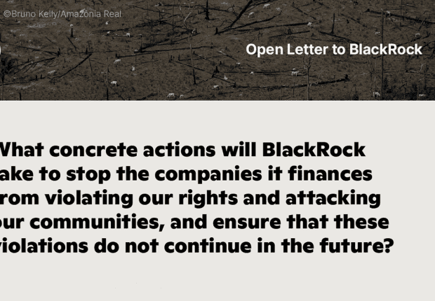 Quote from open letter to BlackRock executives from Indigenous leaders