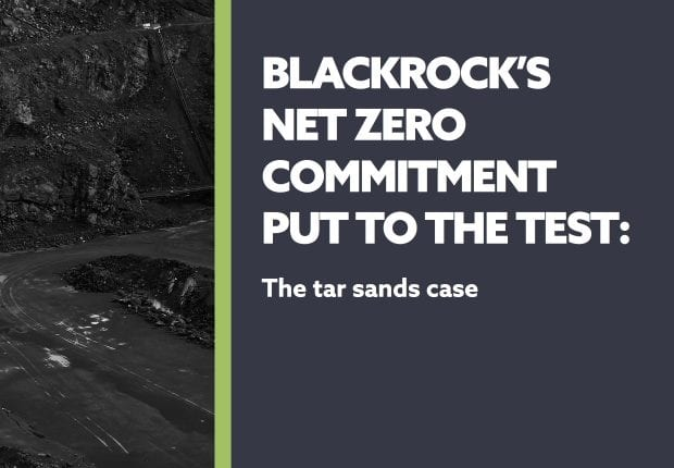 Reclaim Finance report: BlackRock's net-zero commitment put to the test